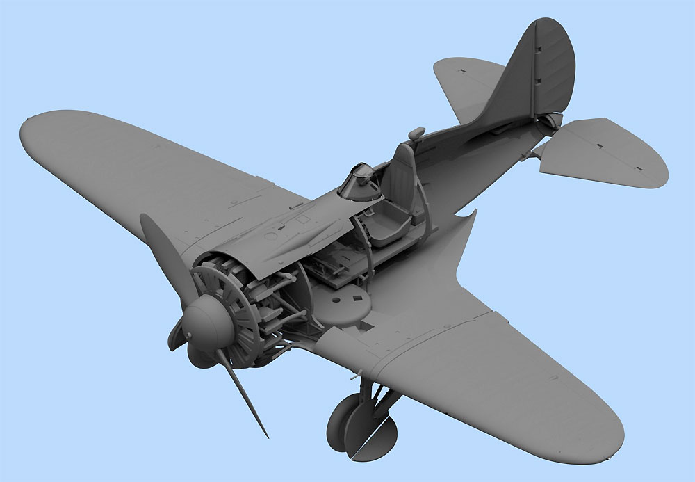 ポリカルポフ I-16 タイプ24 w/ソビエトパイロットプラモデル(ICM1/32 エアクラフトNo.32007)商品画像_2
