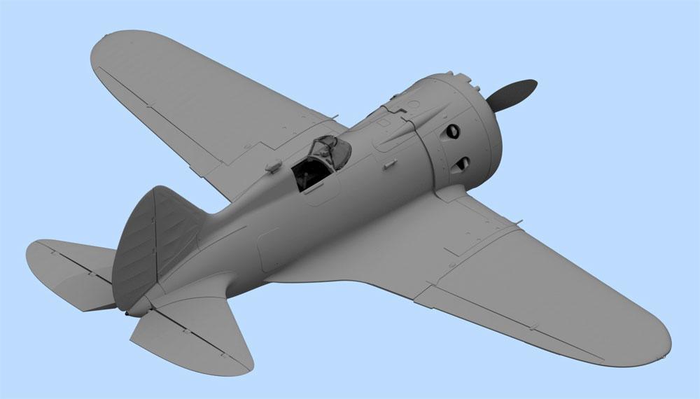 ポリカルポフ I-16 タイプ24 w/ソビエトパイロットプラモデル(ICM1/32 エアクラフトNo.32007)商品画像_4