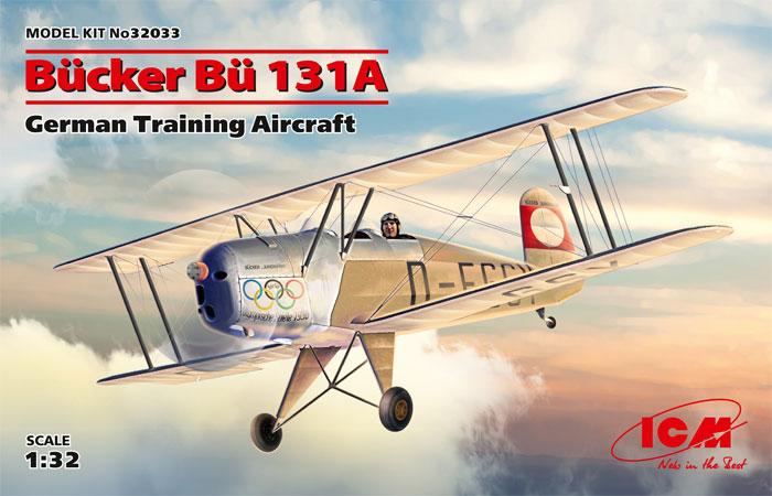 ビュッカー Bu131A ドイツ練習機プラモデル(ICM1/32 エアクラフトNo.32033)商品画像