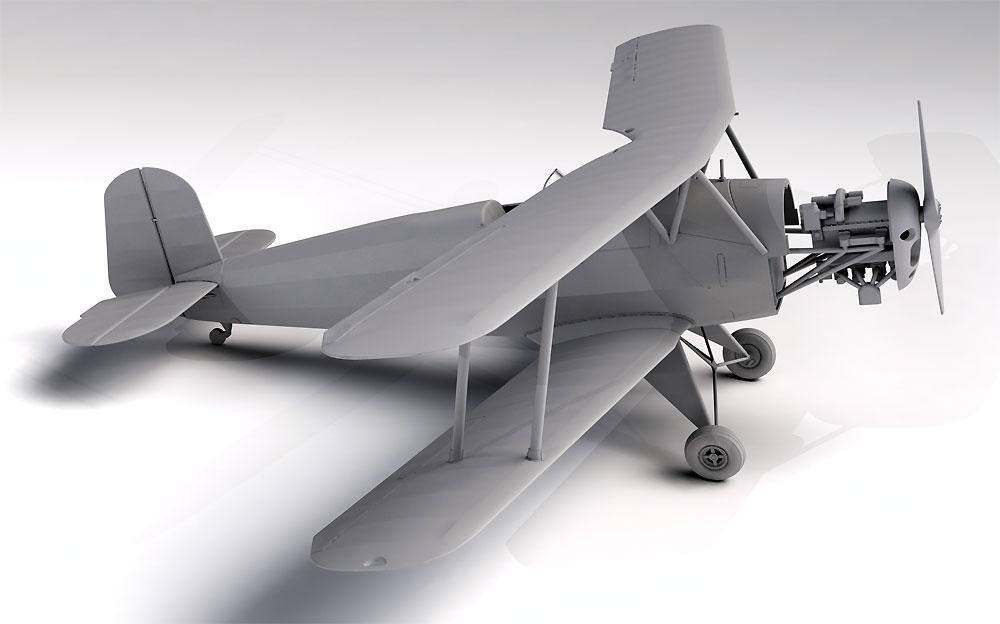 ビュッカー Bu131A ドイツ練習機プラモデル(ICM1/32 エアクラフトNo.32033)商品画像_2