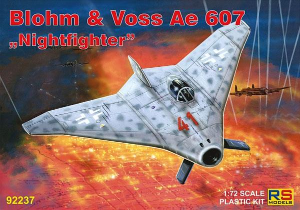 ブロム ウント フォス Ae607 夜間戦闘機プラモデル(RSモデル1/72 エアクラフト プラモデルNo.92237)商品画像