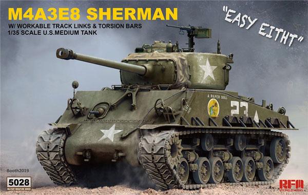 アメリカ中戦車 M4A3E8 シャーマン イージーエイト w/可動式履帯プラモデル(ライ フィールド モデル1/35 Military Miniature SeriesNo.5028)商品画像