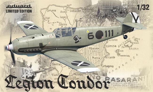 コンドル軍団 メッサーシュミット Bf109E-1/3プラモデル(エデュアルド1/32 リミテッドエディションNo.11105)商品画像
