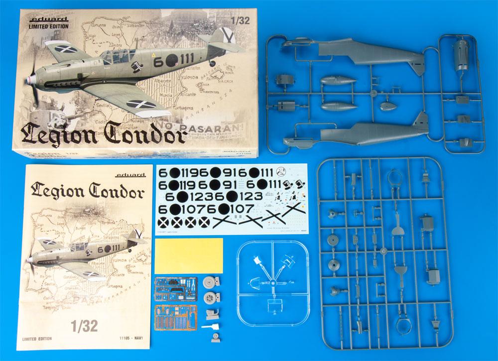 コンドル軍団 メッサーシュミット Bf109E-1/3プラモデル(エデュアルド1/32 リミテッドエディションNo.11105)商品画像_1