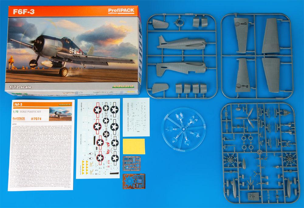 グラマン F6F-3 ヘルキャットプラモデル(エデュアルド1/72 プロフィパックNo.7074)商品画像_1