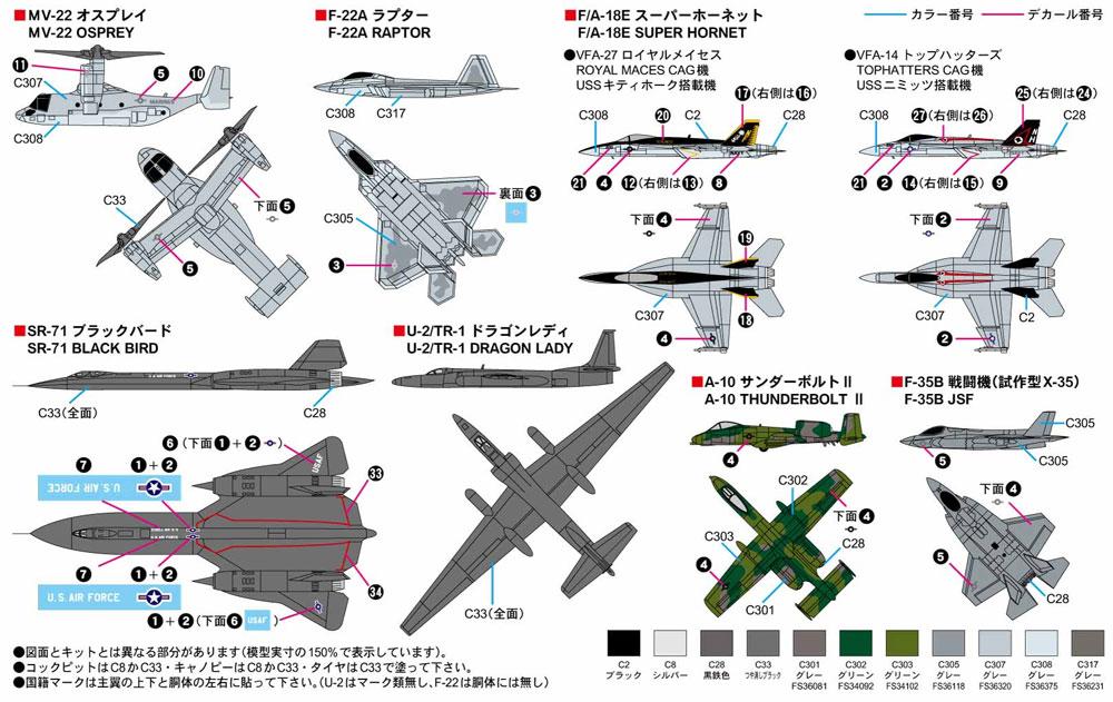 現用 アメリカ軍用機セット 1プラモデル(ピットロードスカイウェーブ S シリーズNo.S053)商品画像_1