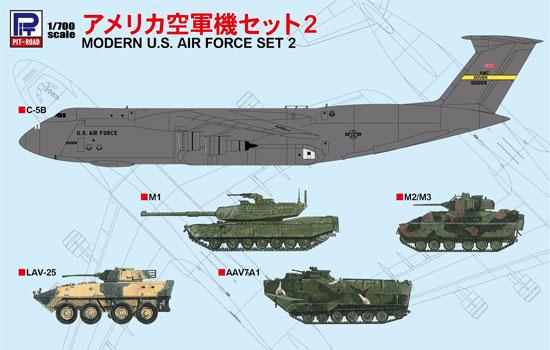 アメリカ空軍機セット 2プラモデル(ピットロードスカイウェーブ S シリーズNo.S047)商品画像