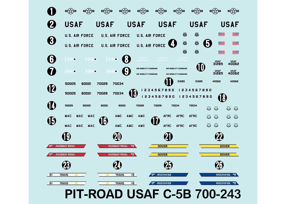 アメリカ空軍機セット 2プラモデル(ピットロードスカイウェーブ S シリーズNo.S047)商品画像_2