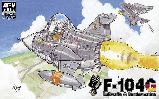 西ドイツ空軍・海軍 F-104G スターファイタープラモデル(AFV CLUBディフォルメ飛行機 QシリーズNo.AFQS06)商品画像