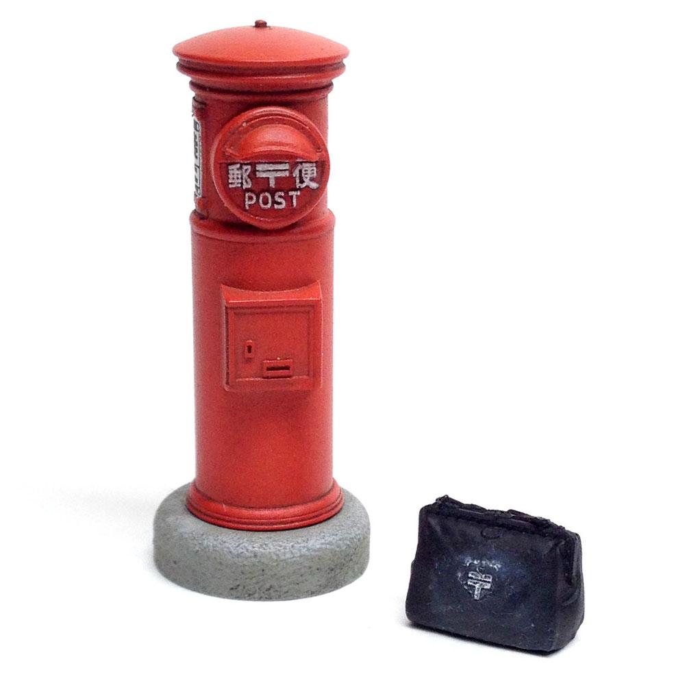 丸い郵便ポストレジン(トワイライトモデルたそがれの昭和 トワイライト シリーズNo.TAS-004)商品画像_1