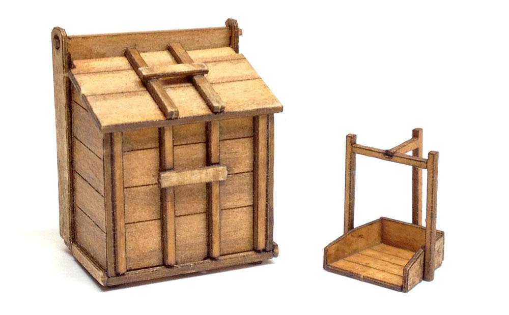 木製ゴミ箱木製模型(トワイライトモデルたそがれの昭和 トワイライト シリーズNo.TAS-005)商品画像_1
