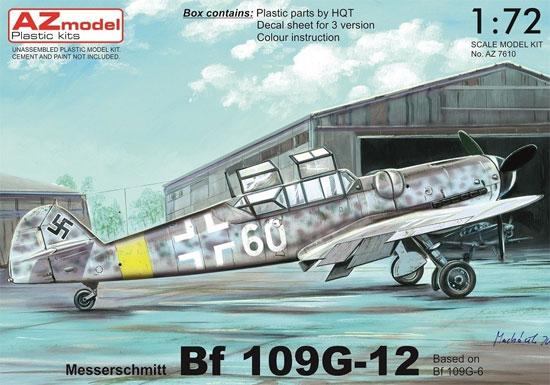 メッサーシュミット Bf109G-12 (G-6ベース型)プラモデル(AZ model1/72 エアクラフト プラモデルNo.AZ7610)商品画像