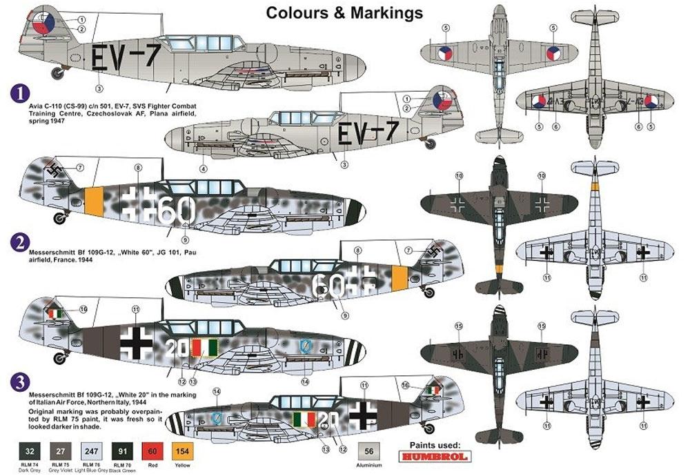 メッサーシュミット Bf109G-12 (G-6ベース型)プラモデル(AZ model1/72 エアクラフト プラモデルNo.AZ7610)商品画像_1