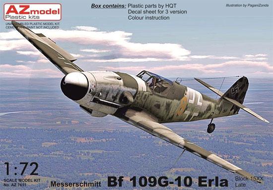 メッサーシュミット Bf109G-10 エルラ工場 後期型プラモデル(AZ model1/72 エアクラフト プラモデルNo.AZ7611)商品画像