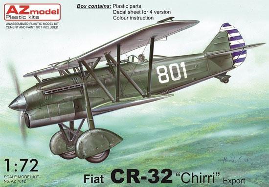 フィアット CR-32 輸出型プラモデル(AZ model1/72 エアクラフト プラモデルNo.AZ7612)商品画像