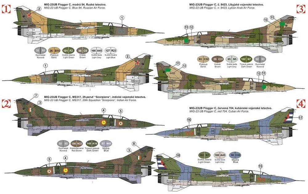 MiG-23UB フロッガーCプラモデル(KPモデル1/72 エアクラフト プラモデルNo.KPM0141)商品画像_1