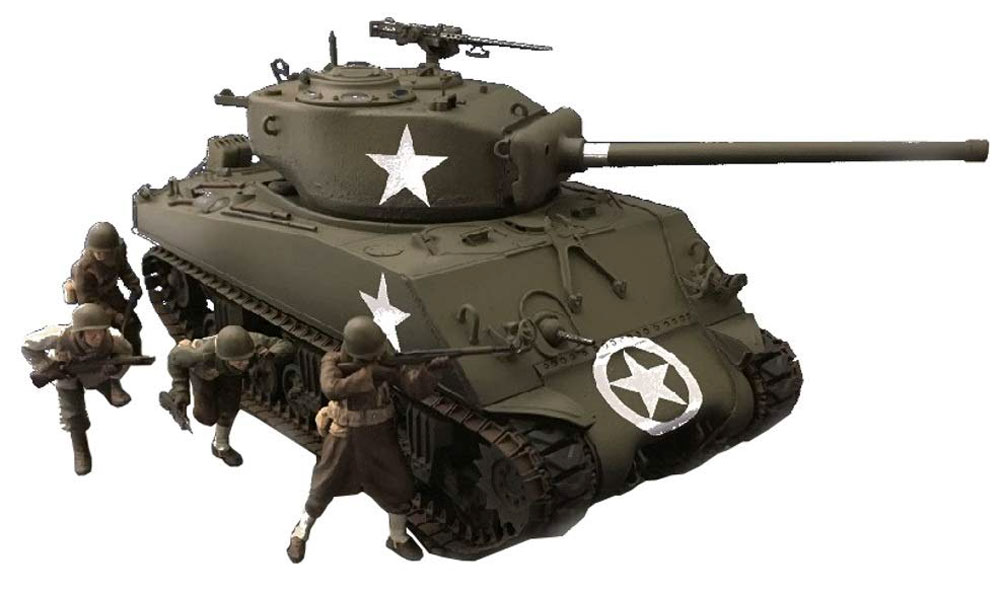 M4A3(76) W シャーマン 人形4体つきプラモデル(アスカモデル1/35 プラスチックモデルキットNo.35-048)商品画像_2
