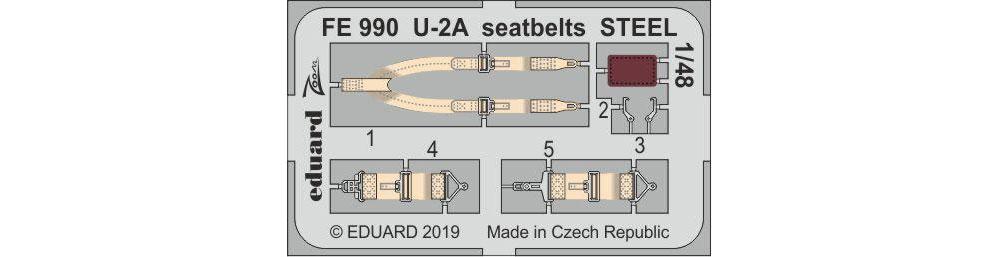 U-2A シートベルトエッチング(エデュアルド1/48 エアクラフト カラーエッチング ズーム (FE-×)No.FE990)商品画像_1