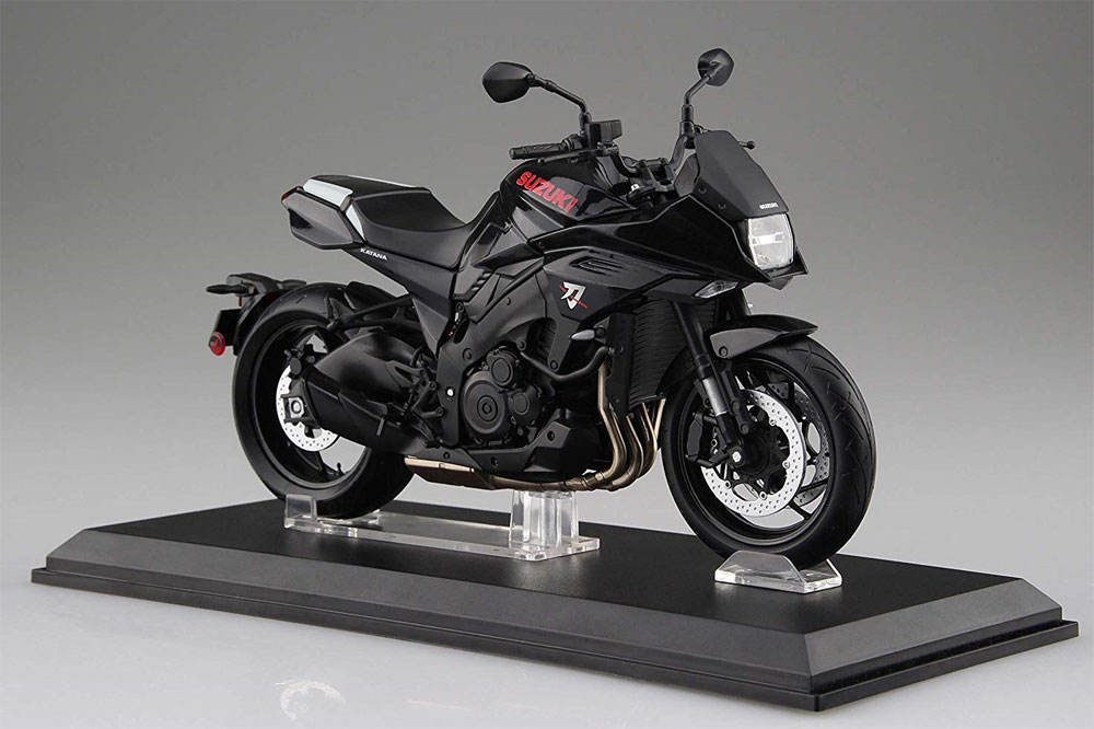 スズキ GSX-S1000S KATANA グラススパークルブラック完成品(アオシマ1/12 完成品バイクシリーズNo.106181)商品画像_1