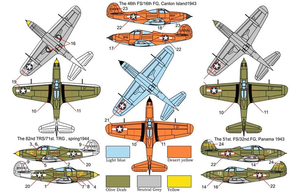 P-39Q エアロコブラプラモデル(ブレンガン1/144 Plastic kits (プラスチックキット)No.BRP144012)商品画像_1