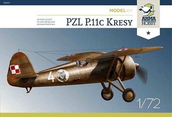 PZL P.11c 東部国境地帯プラモデル(アルマホビー1/72 エアクラフト プラモデルNo.70017)商品画像