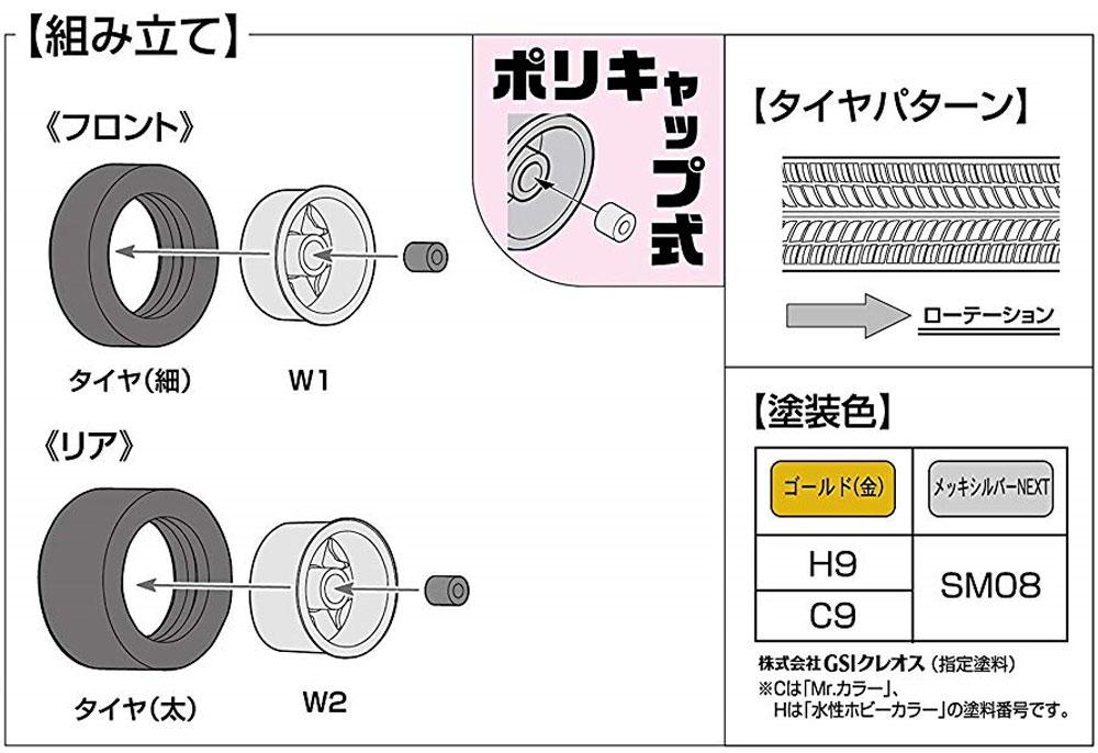 BBS ホイール 17インチプラモデル(フジミホイール シリーズNo.013)商品画像_2