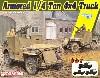 アメリカ 1/4トン 4×4 装甲トラック キャリバー50 機関銃付き 3in1