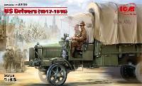 ICM1/35 ミリタリービークル・フィギュアUS ドライバーズ 1917-1918