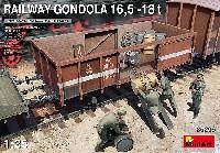 ミニアート1/35 WW2 ミリタリーミニチュアゴンドラ貨車 16.5-18t 兵隊5体付