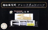 フジミ艦船模型用グレードアップパーツ日本海軍 戦艦 陸奥 木甲板シール & 艦名プレート (展示用)