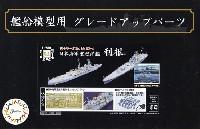 フジミ艦船模型用グレードアップパーツ日本海軍 重巡洋艦 利根 エッチングパーツ & 2ピース 25ミリ機銃