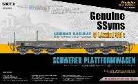 サーベルモデル1/35 ミリタリードイツ 重平貨車 Ssyms 6軸 80t