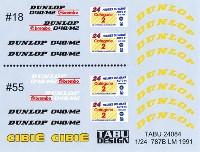 マツダ 787B ル・マン 1991 オプションデカール