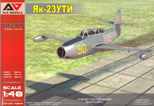 Yak-23UTI 複座練習機プラモデル(A&A MODELS1/48 プラスチックモデルNo.4804)商品画像