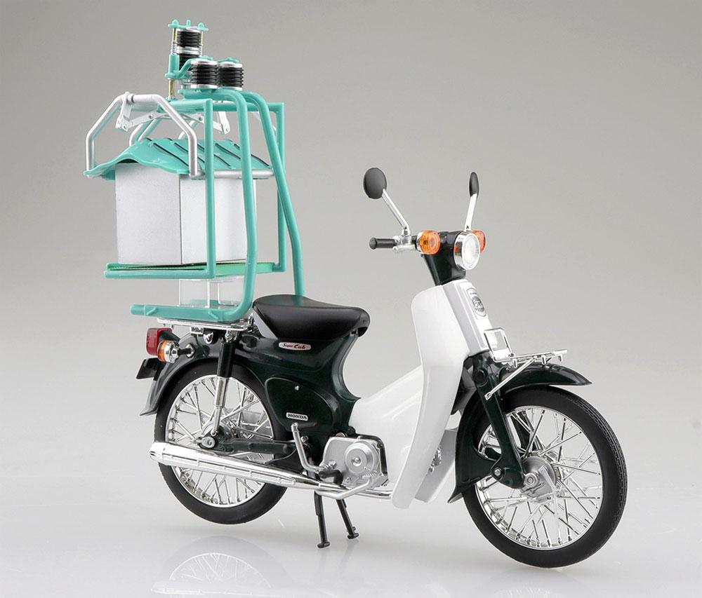 ホンダ スーパーカブ 出前機付完成品(アオシマ1/12 完成品バイクシリーズNo.105672)商品画像_1