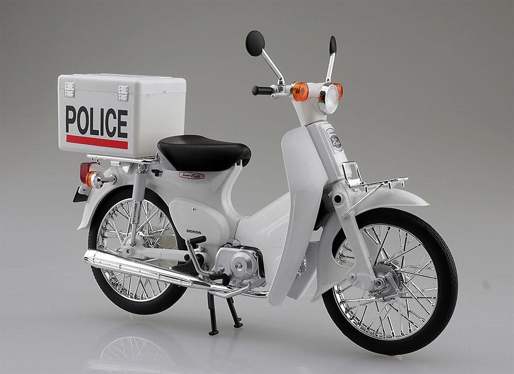 ホンダ スーパーカブ ポリス仕様完成品(アオシマ1/12 完成品バイクシリーズNo.105689)商品画像_2
