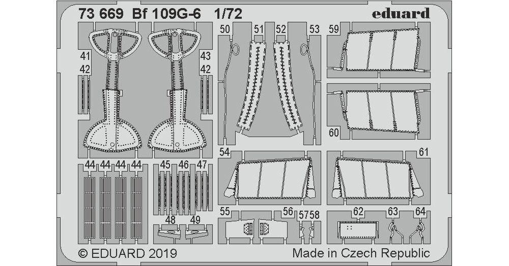 Bf109G-6 エッチングパーツ (タミヤ用)エッチング(エデュアルド1/72 エアクラフト用 カラーエッチング (73-×)No.73669)商品画像_2