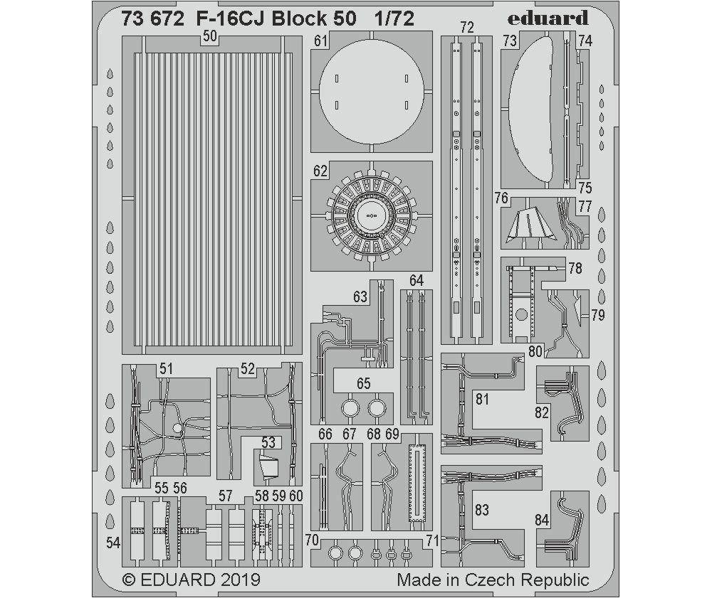 F-16CJ ブロック50 エッチングパーツ (タミヤ用)エッチング(エデュアルド1/72 エアクラフト用 カラーエッチング (73-×)No.73672)商品画像_2