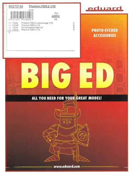 ファントム FGR.2 ビッグED パーツセット (エアフィックス用)エッチング(エデュアルド1/72 BIG ED (AIR)No.BIG72148)商品画像