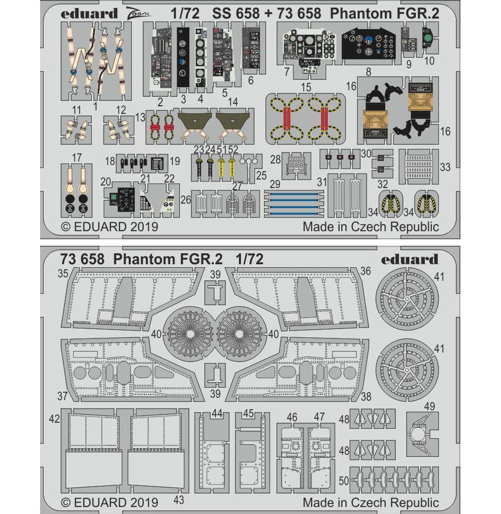 ファントム FGR.2 ビッグED パーツセット (エアフィックス用)エッチング(エデュアルド1/72 BIG ED (AIR)No.BIG72148)商品画像_1