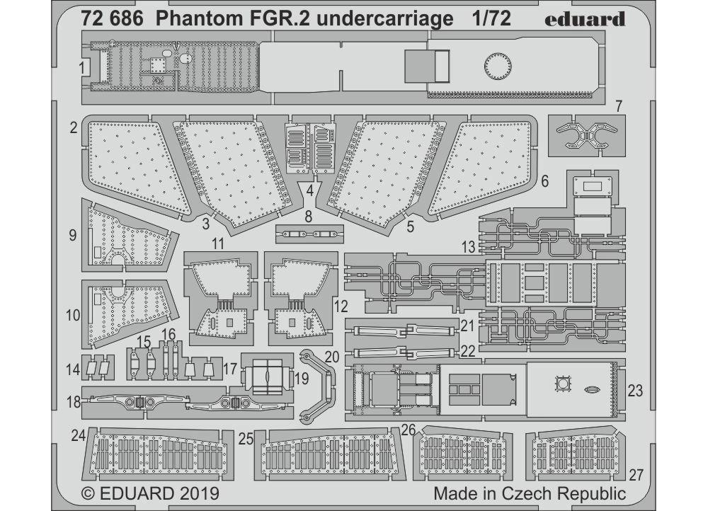 ファントム FGR.2 ビッグED パーツセット (エアフィックス用)エッチング(エデュアルド1/72 BIG ED (AIR)No.BIG72148)商品画像_2