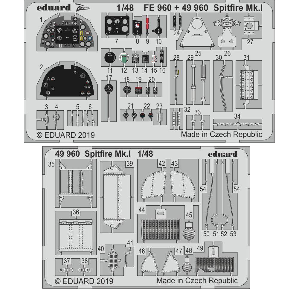 スピットファイア Mk.1 ビッグED パーツセット (タミヤ用)エッチング(エデュアルド1/48 BIG ED (AIR)No.BIG49224)商品画像_1