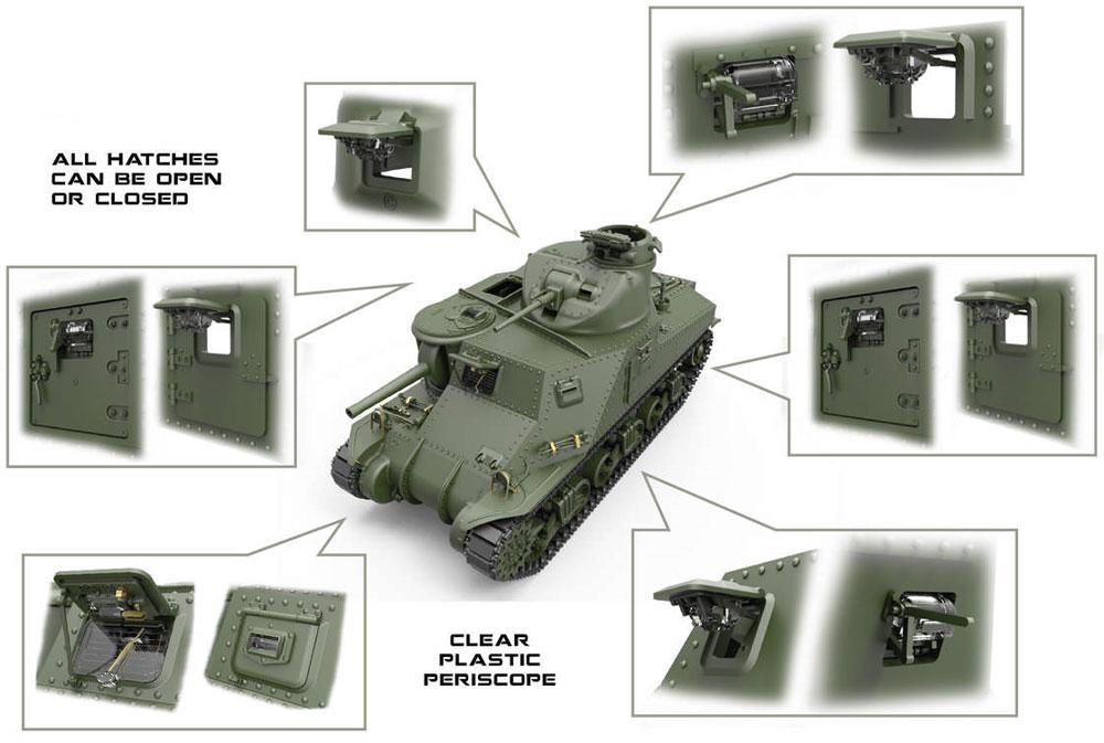 M3 リー 初期型 フルインテリアプラモデル(ミニアート1/35 WW2 ミリタリーミニチュアNo.35206)商品画像_1