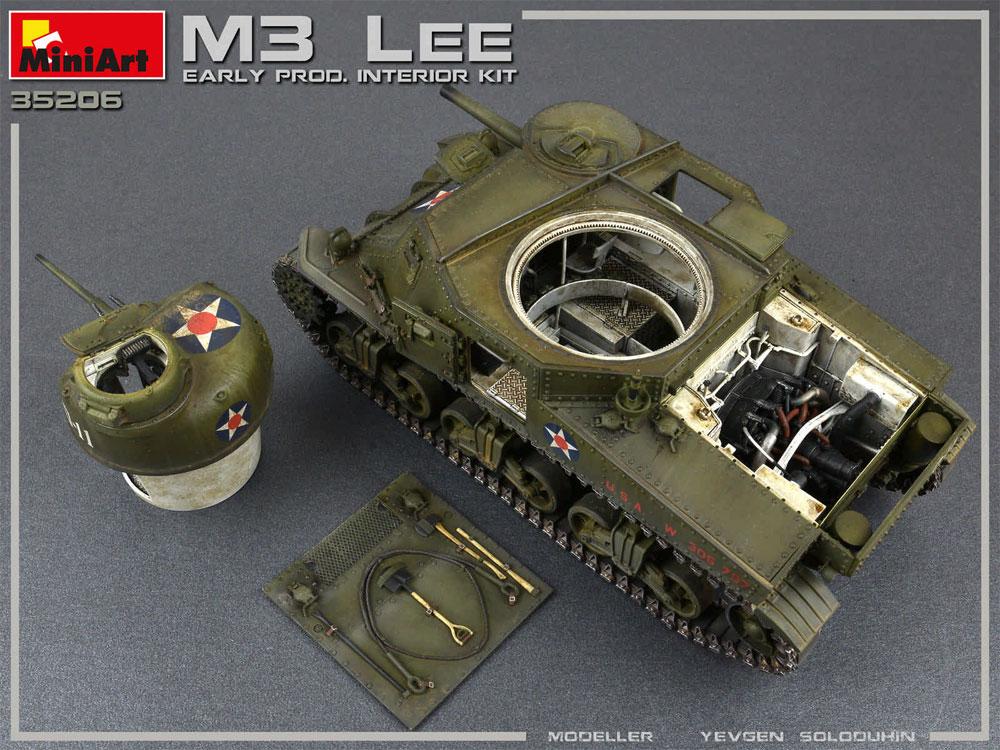 M3 リー 初期型 フルインテリアプラモデル(ミニアート1/35 WW2 ミリタリーミニチュアNo.35206)商品画像_4