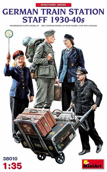 ドイツ 駅員 1930-40年代プラモデル(ミニアート1/35 ミニチュアシリーズNo.38010)商品画像
