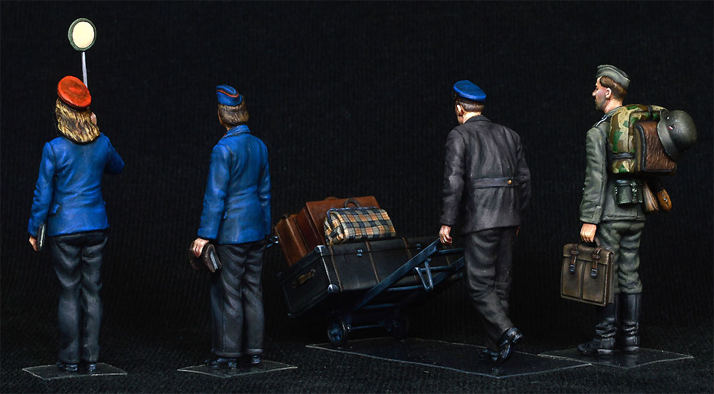 ドイツ 駅員 1930-40年代プラモデル(ミニアート1/35 ミニチュアシリーズNo.38010)商品画像_4