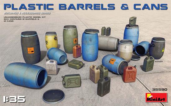 プラスチック製樽 & 缶セットプラモデル(ミニアート1/35 ビルディング&アクセサリー シリーズNo.35590)商品画像