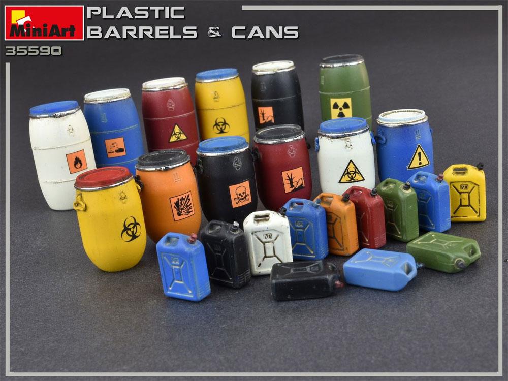 プラスチック製樽 & 缶セットプラモデル(ミニアート1/35 ビルディング&アクセサリー シリーズNo.35590)商品画像_2