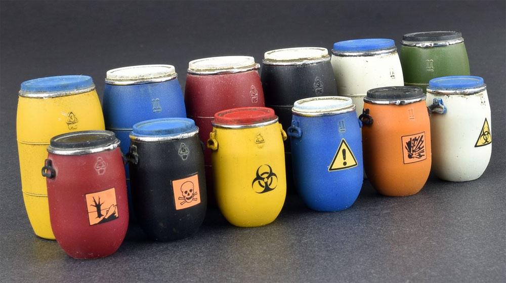 プラスチック製樽 & 缶セットプラモデル(ミニアート1/35 ビルディング&アクセサリー シリーズNo.35590)商品画像_3