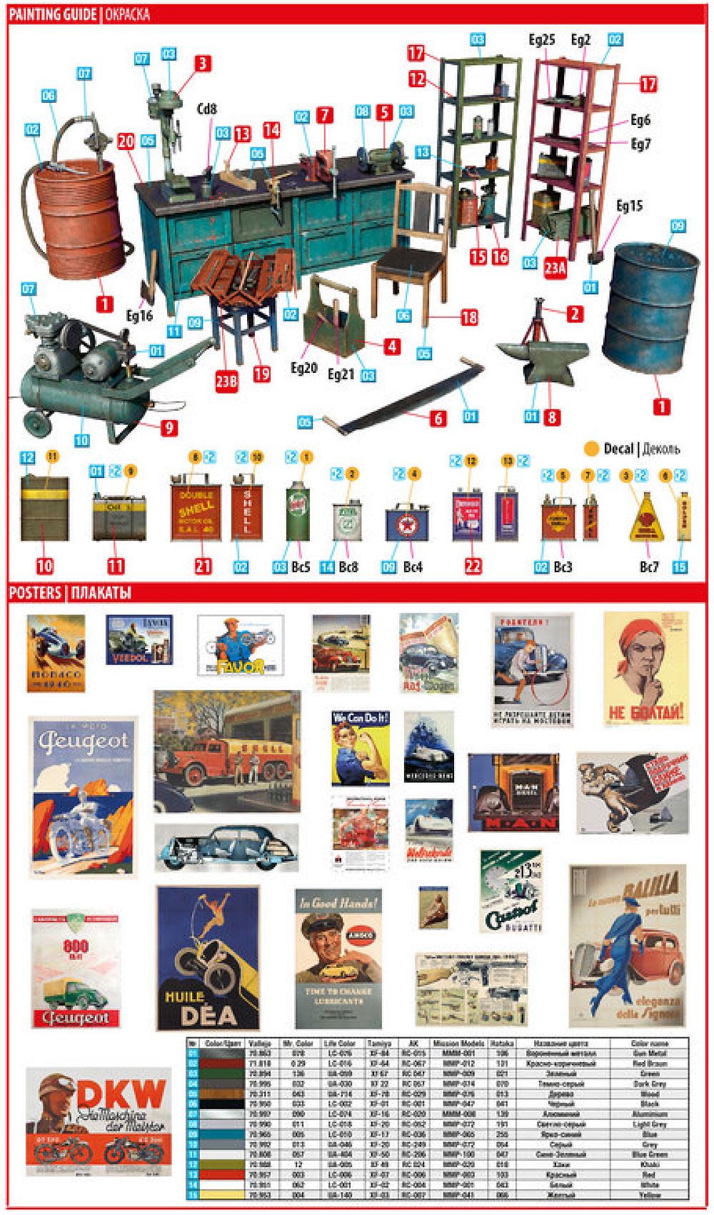 ガレージ工作場プラモデル(ミニアート1/35 ビルディング&アクセサリー シリーズNo.35596)商品画像_1